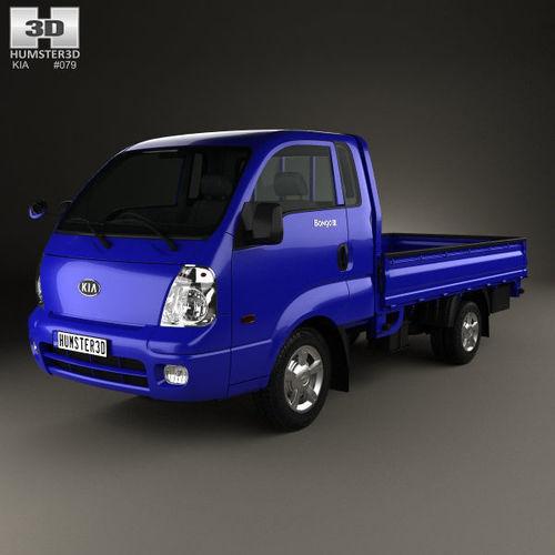 kia bongo pu pickup 2004 3d model max obj mtl 3ds fbx c4d lwo lw lws 1