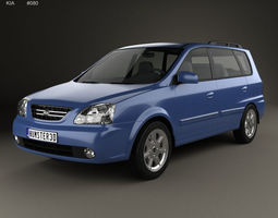Kia Carens RS 2002 3D model