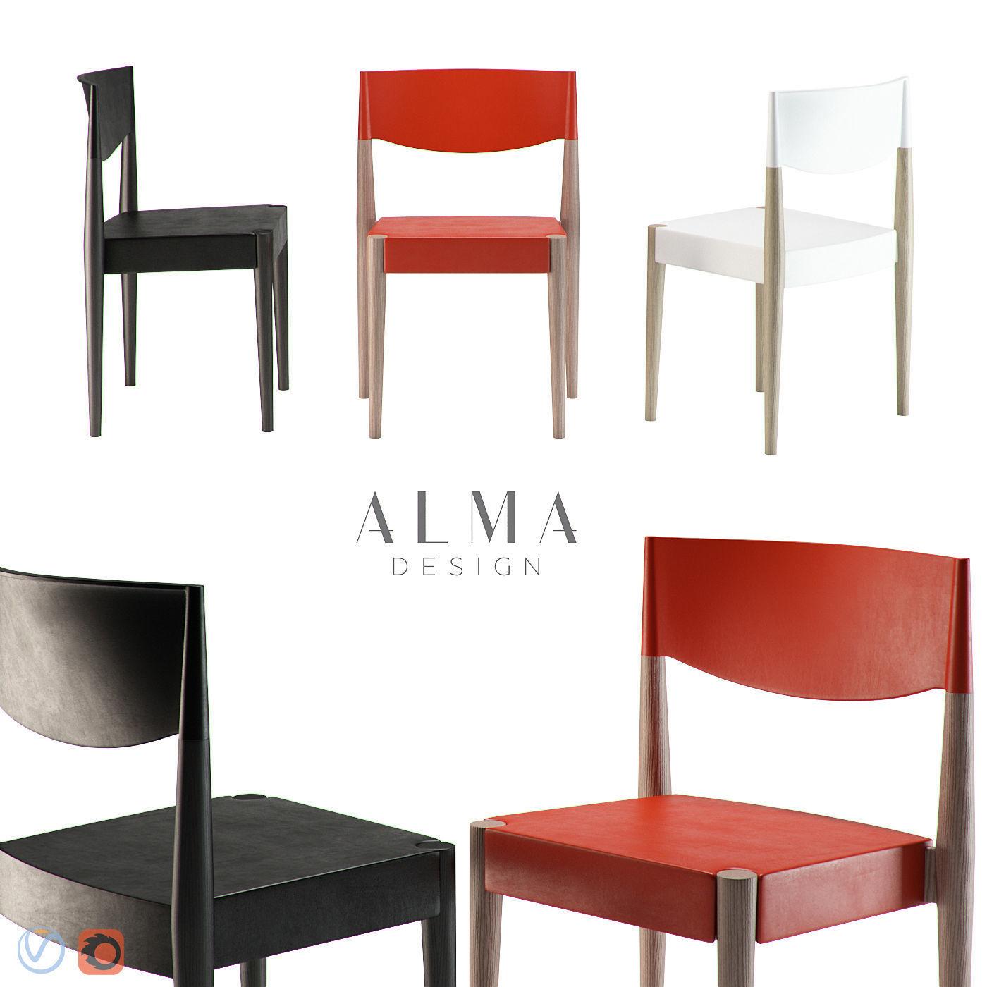 Alma Virna Chair 3d Model Max Fbx 1 ...