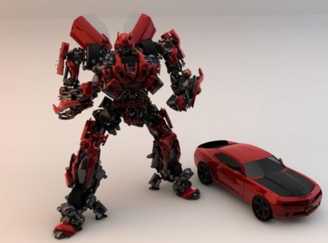 Transformer Bumblebee 3d Model C4d Cgtrader Com