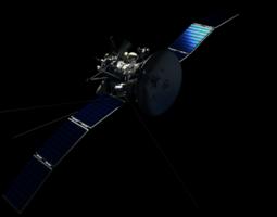 photorealistic satellite 3d model