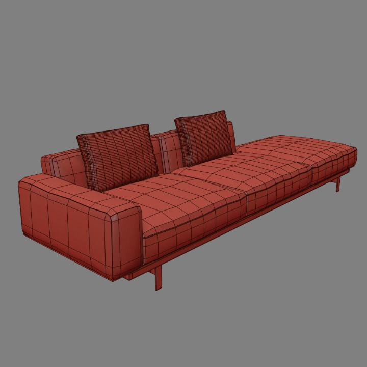 Yard Sofa By LEMA 3D Model .max- CGTrader.com