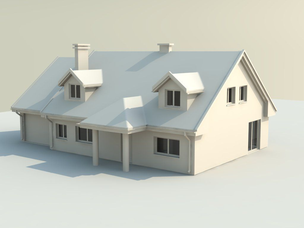 House 3d model 3d printable stl for Houses models