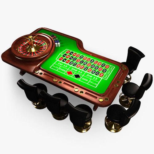 Roulette Table3D model