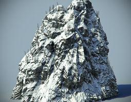 Snow Rock 04 3D Model
