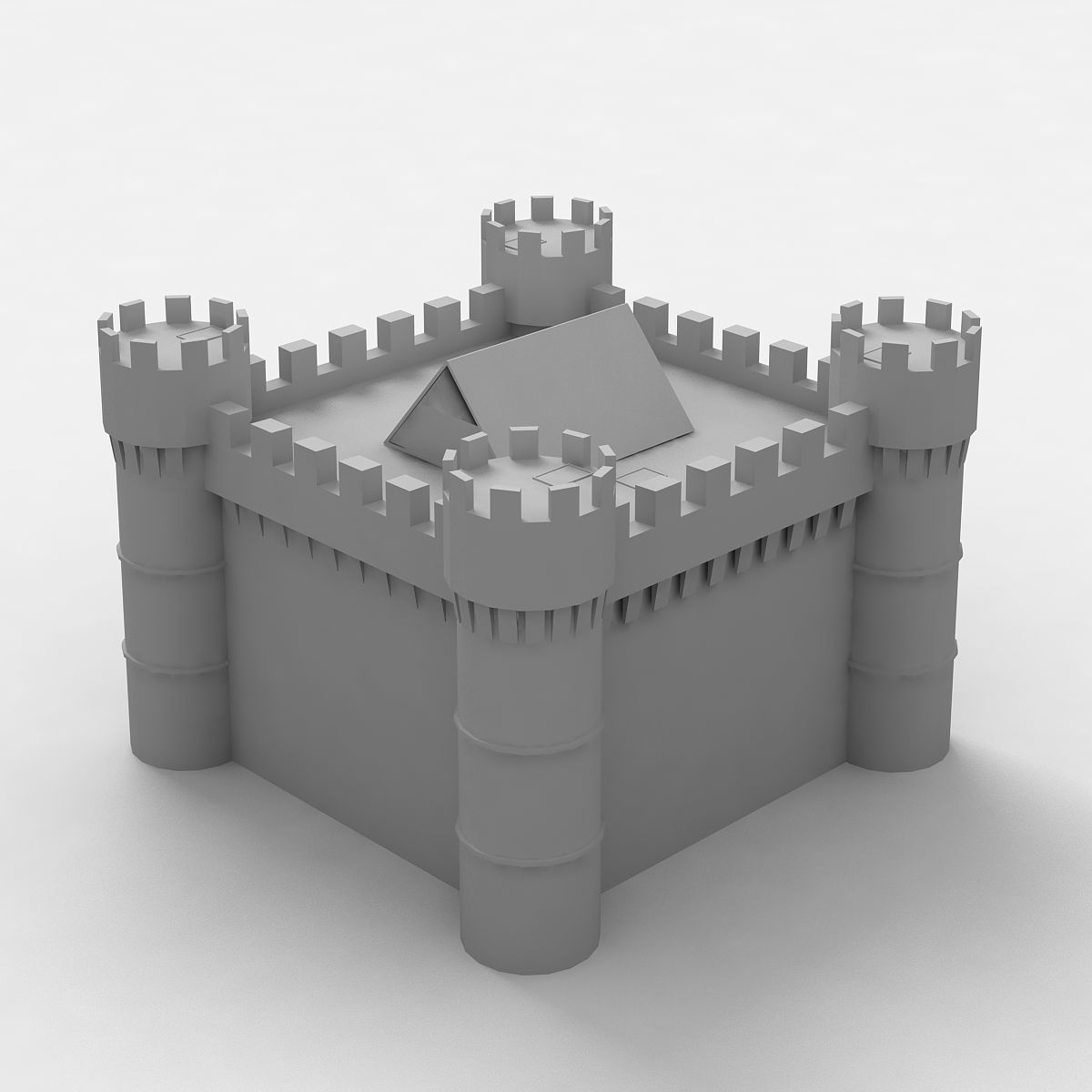 Medieval Castle low poly