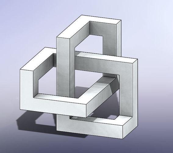 mc escher puzzle 3d model stl 1