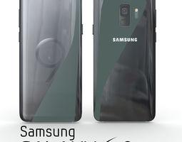 3D Samsung Galaxy S9 Midnight Black