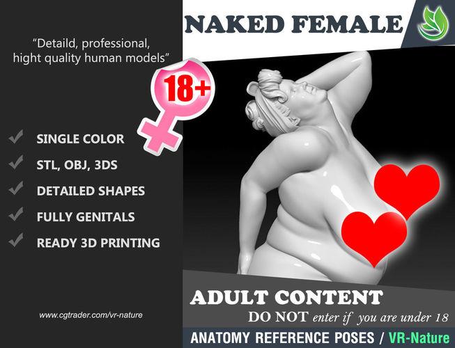 naked fat woman pin up 1803083 3d model obj mtl 3ds stl 1