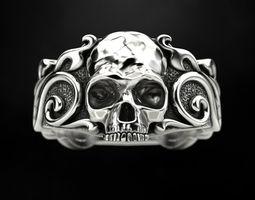 Ring Skull Patterns 3D printable model