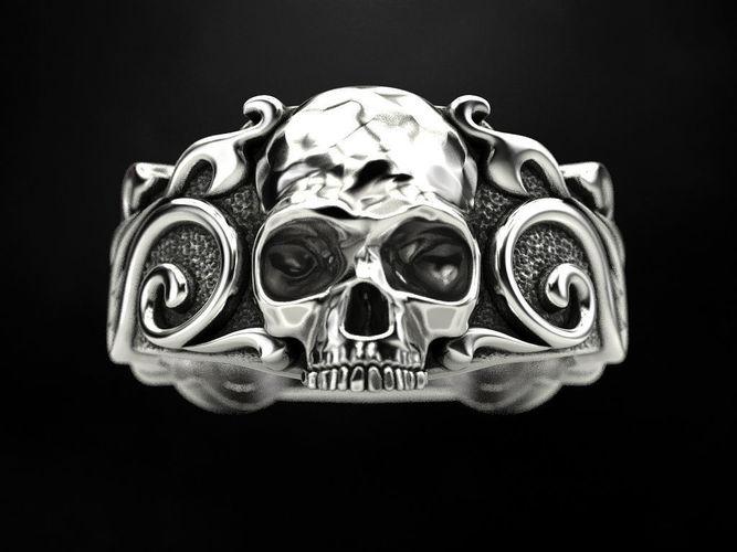 ring skull patterns 3d model stl 1