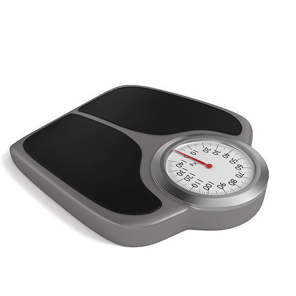 Weighing Scales Bathroom: Bathroom Weight Scale 3D Model OBJ 3DS FBX BLEND