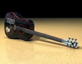 Washburn PS9 Paul Stanley Guitar 3D