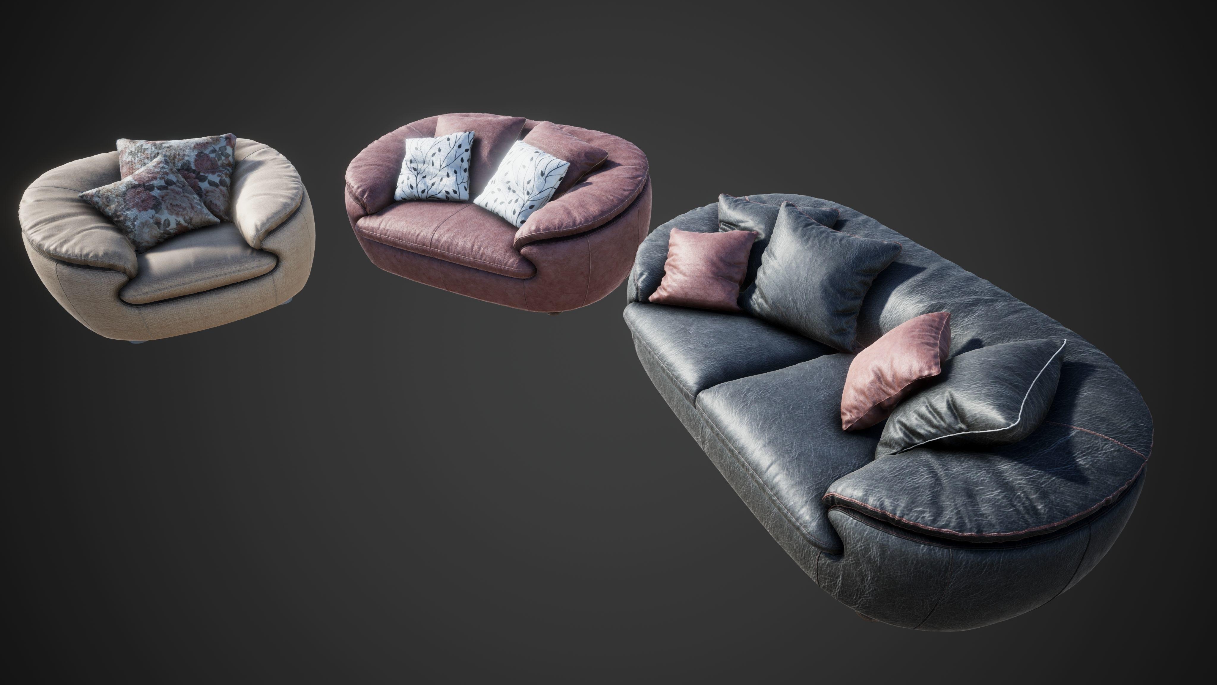 3D model Sofa Comfy Set | CGTrader
