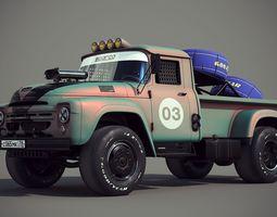 Russian car Zil drag racing 3D