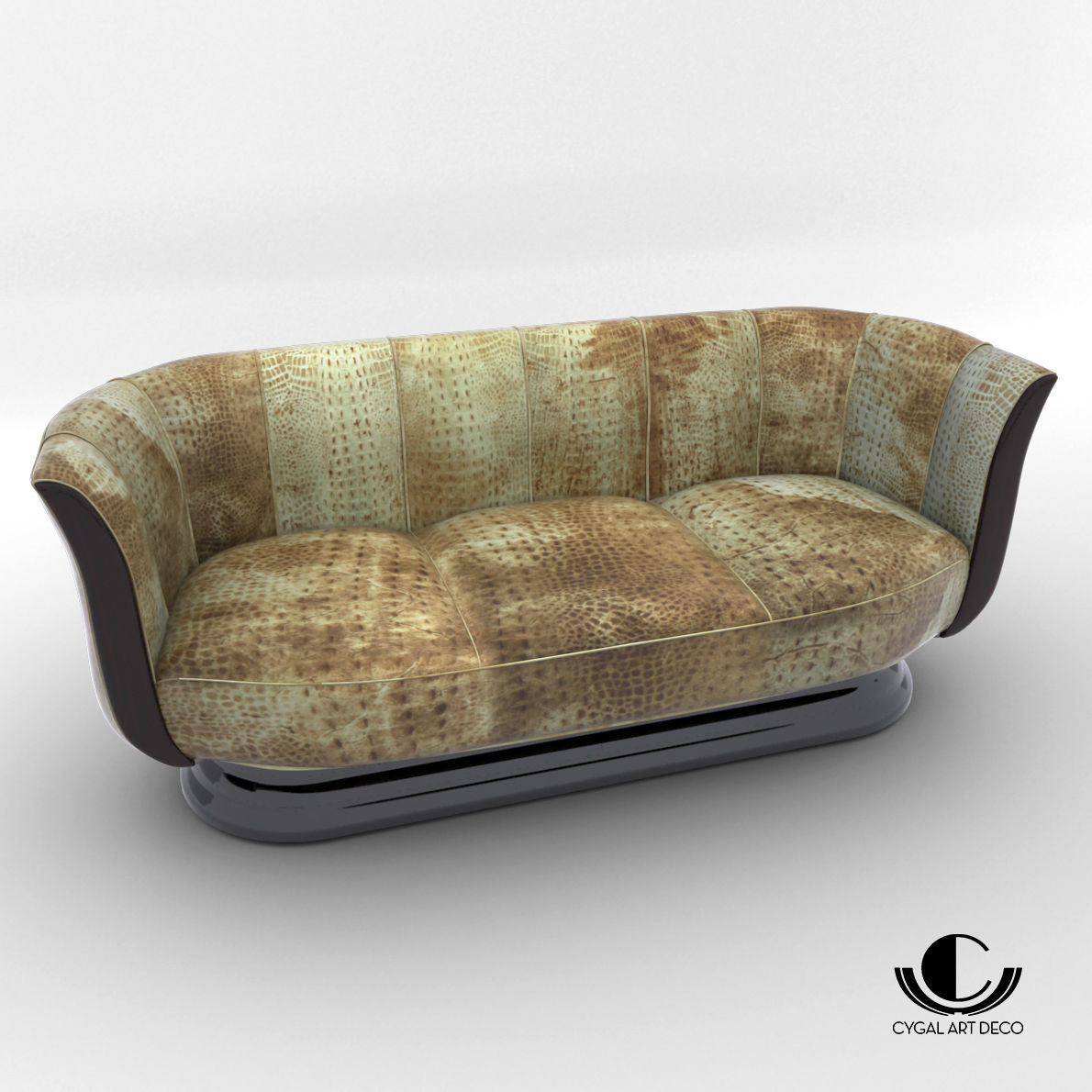 Sofa   Art Deco Style   Design From Cygal Art Deco 3D Model