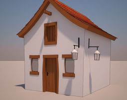 3D model Cartoon house 11