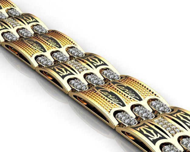 gold mens bracelets c 3d model stl 3dm 1