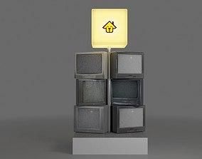 Television 3D asset