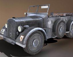 901 Kfz-15 Military Car 3D asset