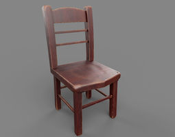 3D model low-poly PBR Chair