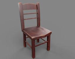 3D model VR / AR ready PBR Chair