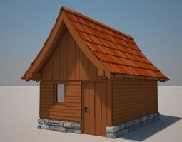 Cartoon Medieval House 06 3D