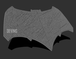 Batman JL emblem for cosplay 3D printable model