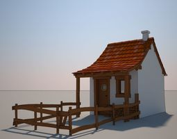 Cartoon Medieval House 02 3D model