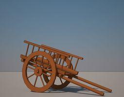 Cart Wooden 3D model