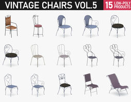 Chairs Collection Vol 5 3D model