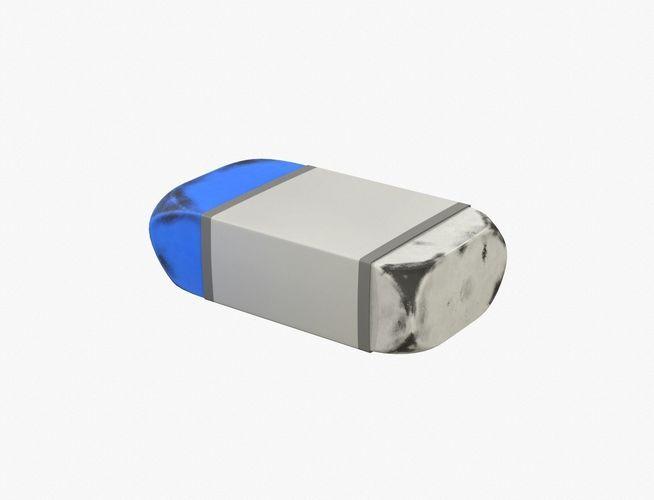 used eraser 3d model obj mtl 1