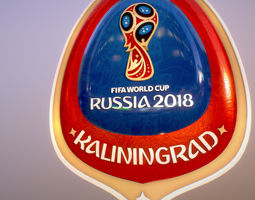 Kaliningrad Host City World Cup Russia 2018 3D
