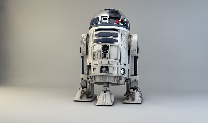 starwars r2d2 3d model obj 3ds c4d 1