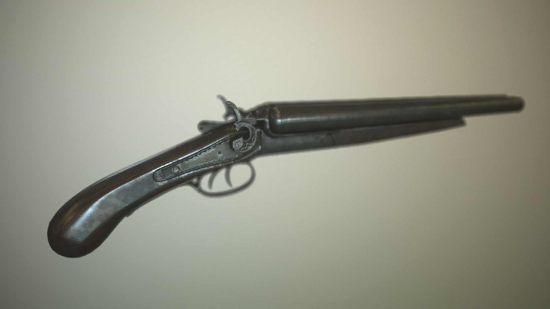 Low poly Sawed- off Double barrel shotgun 3D Model Game ...