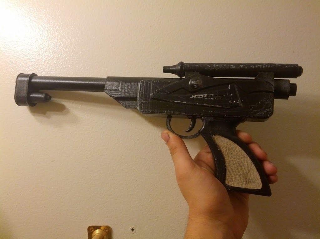 kanan dl 18 blaster from star wars rebels 3d model 3d. Black Bedroom Furniture Sets. Home Design Ideas