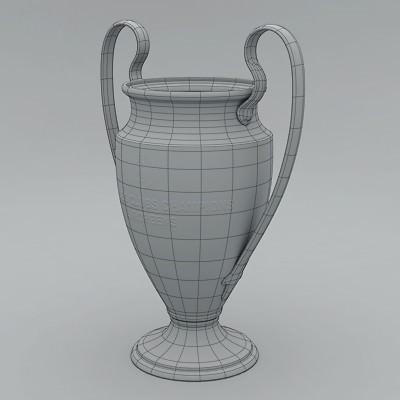 Uefa Champions League Cup Trophy 3d Model Max Obj 3ds