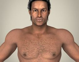 Realistic African Muscular Male 3D Model