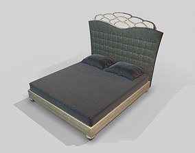 3D model bed Large Bed - Textured