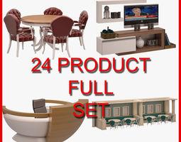 3D Furniture Set 003 24 Product