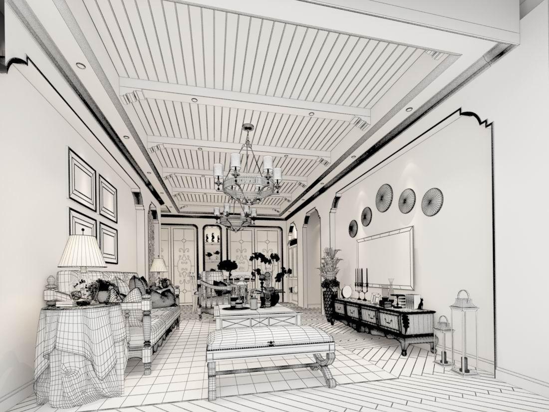 Dorable Mediterranean Style Living Room Crest - Living Room Design ...