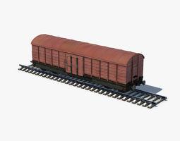 3D model Box Car brown