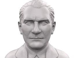 Mustafa Kemal Ataturk 3D printable portrait sculpture
