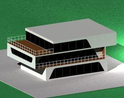 3D model high tech house