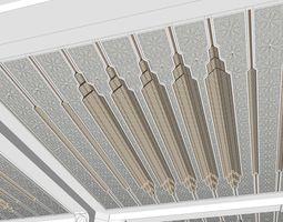 Islamic Ceiling 2 Design 3D model decoration