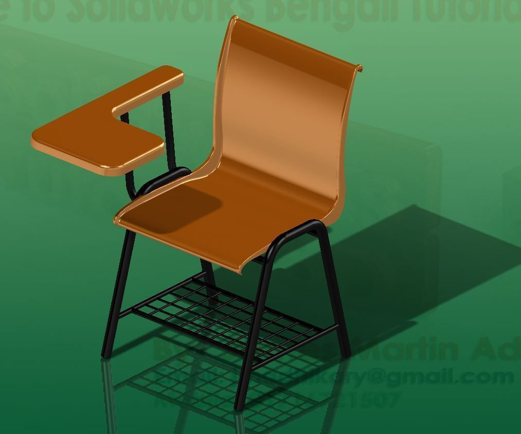Tabloid chair free 3d model for New model chair design