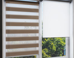 3D model Animated roller blinds with automatic width