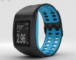 3D Nike Plus SportWatch GPS Anthracite Blue Glow