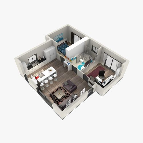 apartment 3D Floor Plan | CGTrader