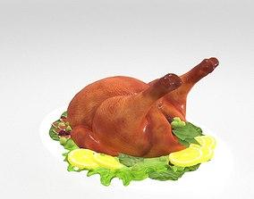 Roasted turkey 3D model realtime